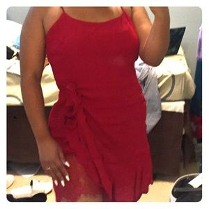 Lulu's Red Wrap Dress